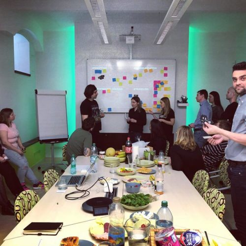 Ranny brainstorm na temu interakcie 💪🏻🤩 #starmediask #spolunastobavi #agencyli…